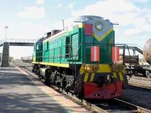 Motor de diesel - a locomotiva Fotos de Stock Royalty Free