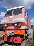 Motor de diesel - a locomotiva Imagem de Stock Royalty Free