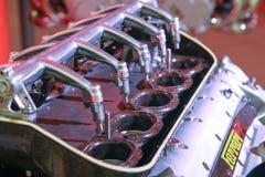 Motor de Ferrari Imágenes de archivo libres de regalías