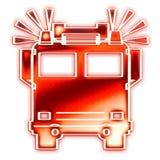 Motor de incêndio com sirenes Foto de Stock Royalty Free