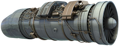 Motor de jato ilustração stock