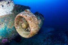 Motor de jato de uma destruição subaquática dos aviões Foto de Stock
