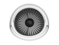 Motor de jato dos aviões rendição 3d Imagens de Stock
