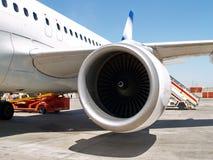 Motor de jato em aviões Fotografia de Stock Royalty Free