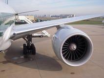 Motor de jato em aviões foto de stock royalty free