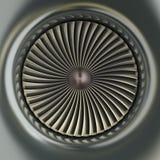 Motor de jet de la turbina de gas Fotos de archivo libres de regalías