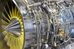 Motor de jet de Turbo foto de archivo