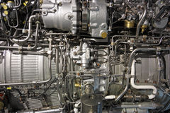 Motor de jet de Turbo imagenes de archivo