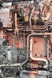 Motor de jet de Turbo fotografía de archivo libre de regalías