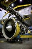 Motor de jet en soporte Imagenes de archivo
