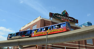 Motor de la gente más allá de Greektown en Detroit, MI Foto de archivo