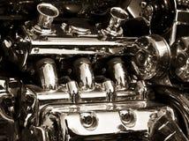 Motor de la moto imagen de archivo libre de regalías