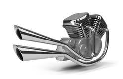 Motor de la motocicleta Imagen de archivo libre de regalías