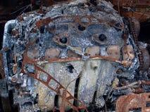 Motor de la quemadura fotografía de archivo