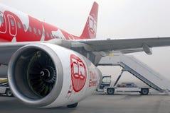 Motor de los aviones de avión de pasajeros modernos Imagen de archivo