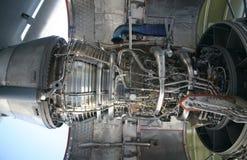 Motor de los aviones militares C-17 Imágenes de archivo libres de regalías
