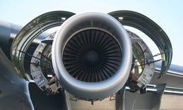 Motor de los aviones militares C-17 Imagenes de archivo