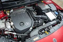Motor 2018 de Mercedes-Benz A200 fotografía de archivo