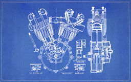 Motor de movimiento de dos de dibujo del modelo Imagen de archivo