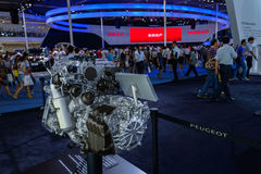Motor de Peugeot, 2014 CDMS Imagenes de archivo
