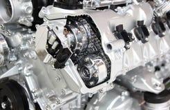 Motor de plata del cromo Fotografía de archivo libre de regalías