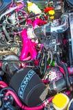 Motor de Sabaru na mostra na mania do motor imagens de stock