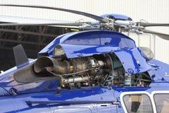 Motor de turbina del helicóptero fotos de archivo