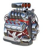 Motor de turbo de la historieta del vector Imágenes de archivo libres de regalías