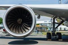 Motor de Turbofan do avião o mais novo Airbus A350-900 XWB Foto de Stock