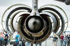 Motor de Turbofan General Electric CF6-80C2 do helicóptero sanitário do exército médico &#x22 de Airbus A310-304 MRTT dos aviões; Imagens de Stock