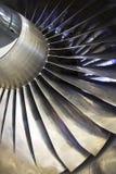 Motor de turbojato de Airplan, fim acima Fotos de Stock Royalty Free