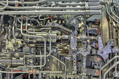 Motor de turborreactor imagenes de archivo