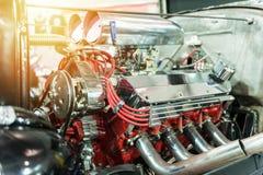 Motor de um hot rod imagens de stock