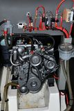 Motor de um veleiro fotografia de stock royalty free
