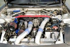 Motor de un coche deportivo moderno Imagen de archivo