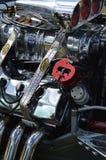 Motor de V8 e grande compressor fotos de stock