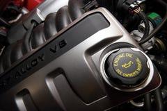 Motor de V8 de la aleación fotografía de archivo