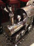 Motor de vapor de prata Foto de Stock Royalty Free