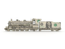 Motor de vapor del dólar Imagen de archivo libre de regalías