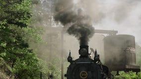Motor de vapor do vintage - trem 4k filme