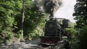 Motor de vapor do vintage - trem 4k video estoque