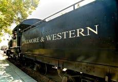 Motor de vapor Fillmore y occidental históricos foto de archivo