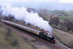 Motor de vapor preservado en el Settle a la línea de Carlisle. imagenes de archivo