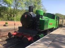 Motor de vapor verde - motor de vapor del valle de Churnet imagen de archivo libre de regalías