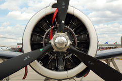 Motor del aeroplano Imagenes de archivo