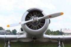 Motor del aeroplano con el propulsor Imágenes de archivo libres de regalías