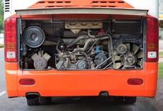 Motor del autobús Fotografía de archivo libre de regalías