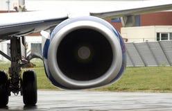 Motor del avión Imágenes de archivo libres de regalías