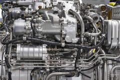 Motor del avión de combate Imagenes de archivo
