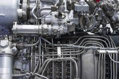Motor del avión de combate Fotos de archivo